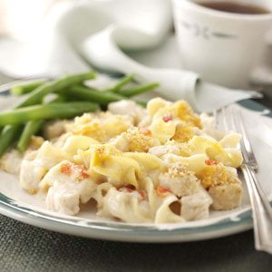 Creamy Chicken Noodle Bake Recipe