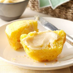 Homemade Corn Muffins with Honey Butter Recipe