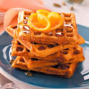 Sweet Potato Waffles Recipe photo by Taste of Home