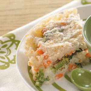 Rice Vegetable Pie