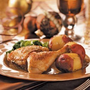 Garlic Chicken with Potatoes Recipe