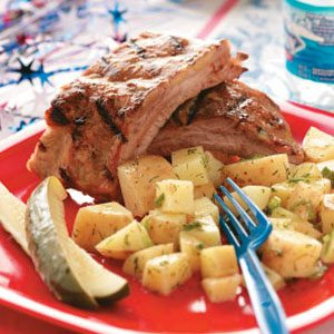 Peachy Pork Ribs Recipe