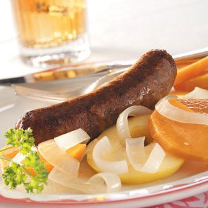 One-Dish Bratwurst Dinner Recipe
