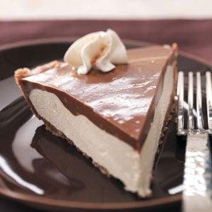 Makeover Chocolate Eggnog Pie Recipe