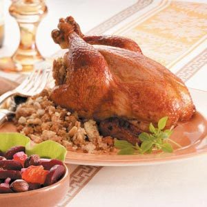 Cornish Hens with Almond Stuffing Recipe