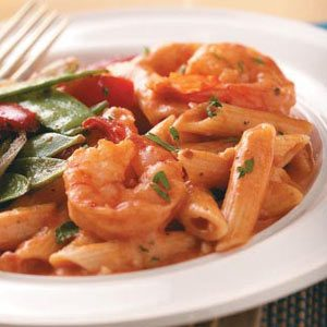 Creamy Tomato Shrimp with Penne Recipe