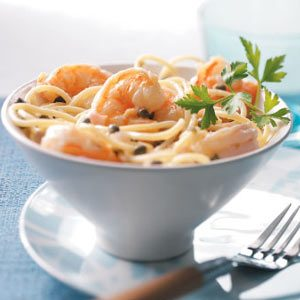 Healthy Shrimp Piccata Pasta Recipe