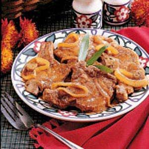 Pork Chops with Mushroom Gravy Recipe