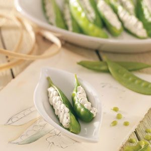 Pretty Stuffed Spring Peas Recipe
