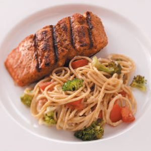 Salmon with Broccoli and Pasta Recipe