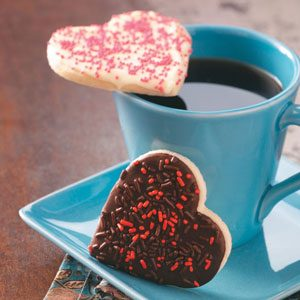 Chocolate-Frosted Heart Cookies Recipe
