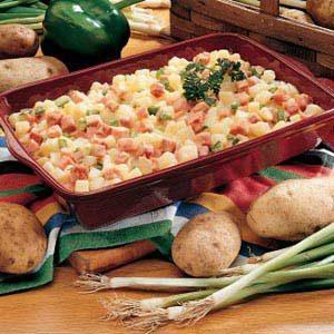 Ham 'n' Potato Au Gratin Recipe