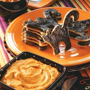 Black Cat Dippers with Pumpkin Pie Dip Recipe