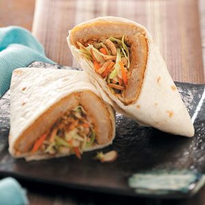 Asian Meatless Wraps
