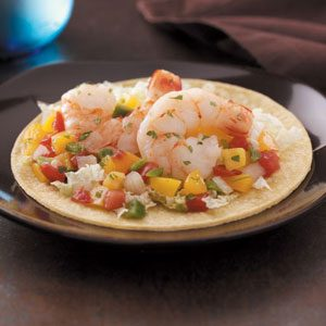 Peachy Shrimp Tacos Recipe