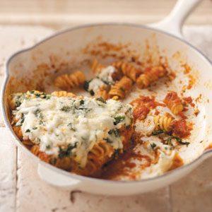 Skillet Pasta Florentine Recipe