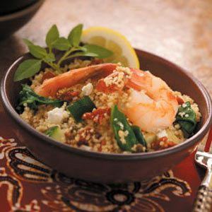 Mediterranean Shrimp Couscous Recipe