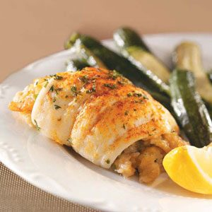 Flounder with Shrimp Stuffing Recipe