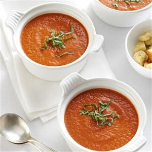 Roasted Tomato Soup with Fresh Basil Recipe