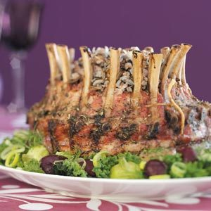 Crown Roast with Wild Rice Stuffing Recipe