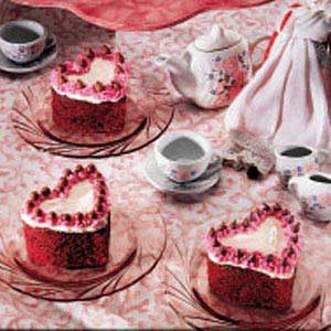 Classic Red Velvet Heart Cakes Recipe