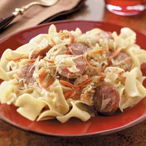 German-Style Kielbasa and Noodles Recipe