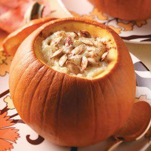Tapioca Pudding in Pumpkins Recipe