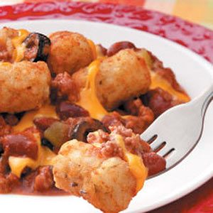 Cheesy Chili Tots