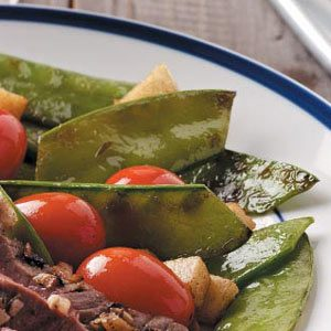 Snow Peas with Tomatoes Recipe