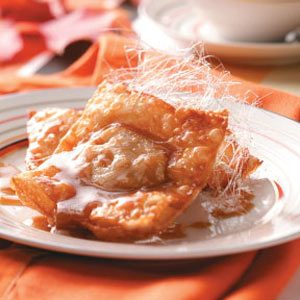 Pumpkin Wontons with Butterscotch Sauce