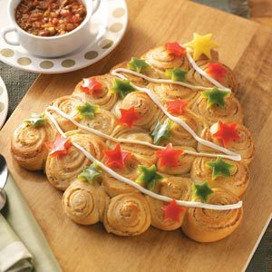 Christmas Tree Savory Rolls Recipe
