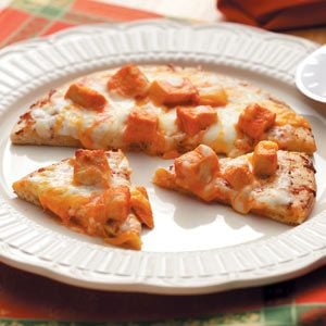 Individual Buffalo-Style Chicken Pizza Recipe