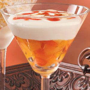 Peach Melba Mousse Dessert Recipe