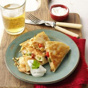 Shrimp Fried Rice Quesadillas Recipe