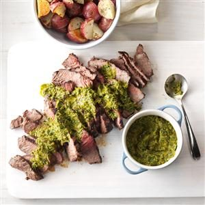 Steak with Chipotle-Lime Chimichurri Recipe