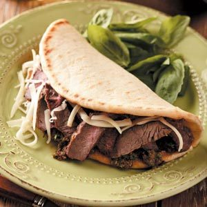Tuscan Steak Flatbreads Recipe