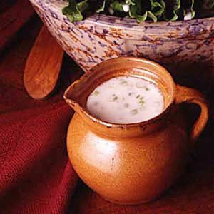 Lettuce with Cream Dressing Recipe