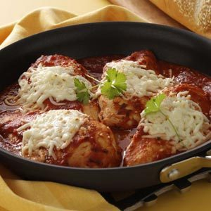 Skillet Chicken Parmesan Recipe photo by Taste of Home