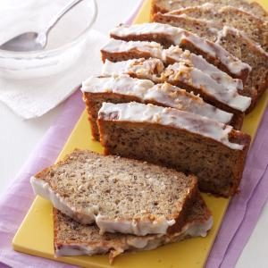 Glazed Coconut-Banana Bread Recipe