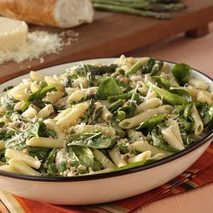 Asparagus-Spinach Pasta Salad Recipe