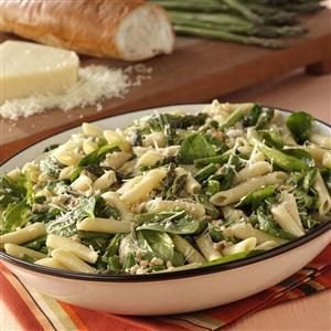 Watch Us Make: Asparagus-Spinach Pasta Salad
