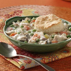 Chicken and Biscuits Pot Pie Recipe