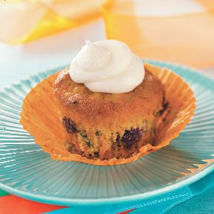 Carrot Blueberry Cupcakes Recipe