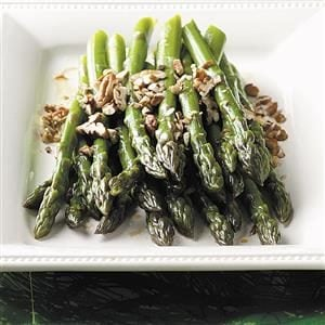 Menu #2 Side Dish:  Fresh Asparagus with Pecans