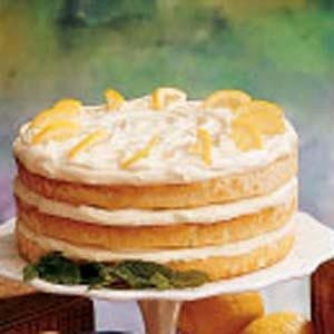 Lemon Whipped Cream Torte
