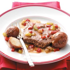 Round Steak with Potatoes Recipe