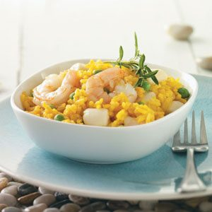 Scallops & Shrimp with Yellow Rice Recipe