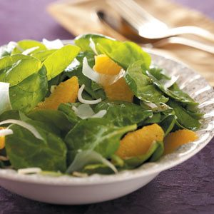 Orange Vinaigrette Spinach Salad