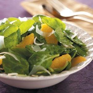 Orange Vinaigrette Spinach Salad Recipe