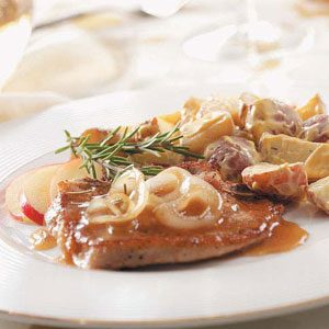 Smothered Cider Pork Chops